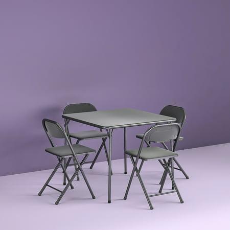 Wondrous Cosco 5 Piece Card Table Set Black Walmart Com Ncnpc Chair Design For Home Ncnpcorg