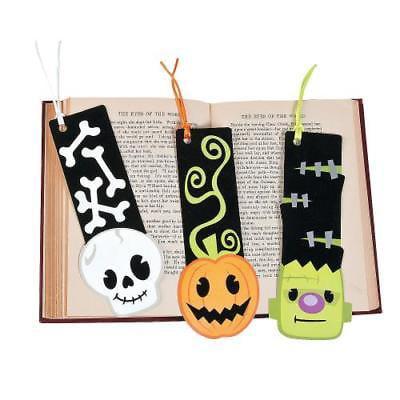 IN-13746347 Halloween Character Fuzzy Bookmarks Per Dozen
