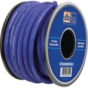 DB Link SXPW0BL50 Strandworx Soft-Touch Power and Ground Wire, 0-Gauge, 50', Blue Power