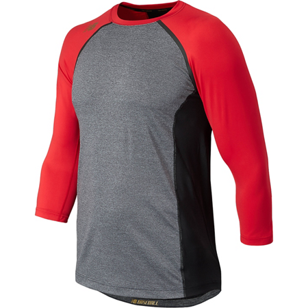 75a6d4dcd19da New Balance Men's 4040 3/4 Sleeve Baseball Compression Shirt - Walmart.com