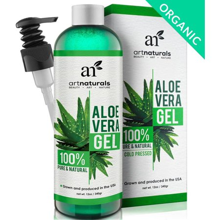 Aloe Vera Gel (12oz) 99.8% Natural for Soothing & Moisturizing Face, Hair & Skin
