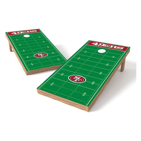 Wild Sales NFL Football Field XL Shield Cornhole