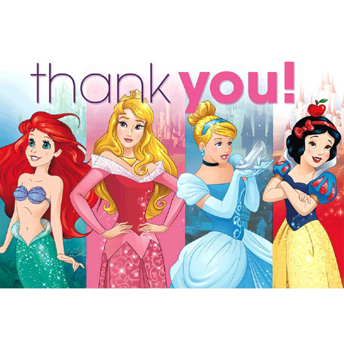 Disney Princess 'Dream Big' Thank You Note Set w/ Envelopes (8ct)