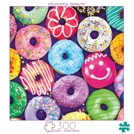 Donut On A String Game (Buffalo Games - Art of Play Series - Delightful Donuts - 300 Piece Jigsaw)
