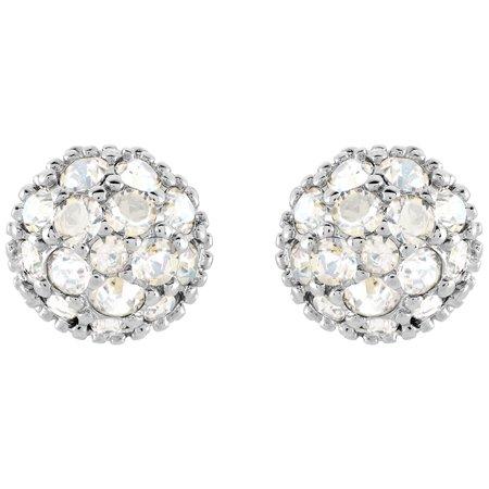 Moonlight Crystal EUPHORIA Studs Pierced Earrings Rhodium #5073039