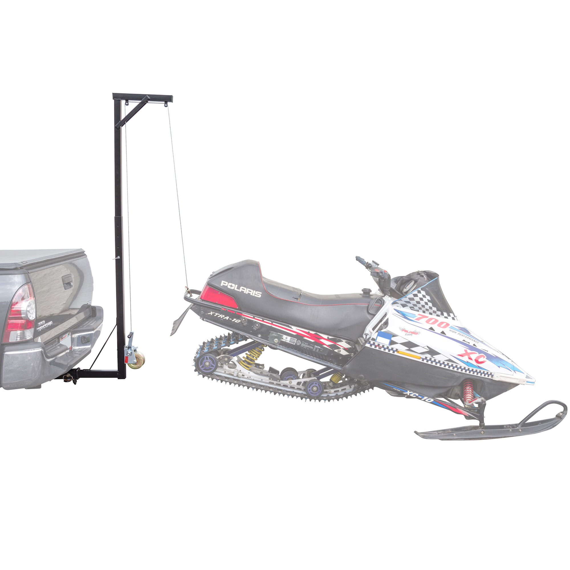 Black Ice Hitch-Mounted Fixed Snowmobile Lift Hoist