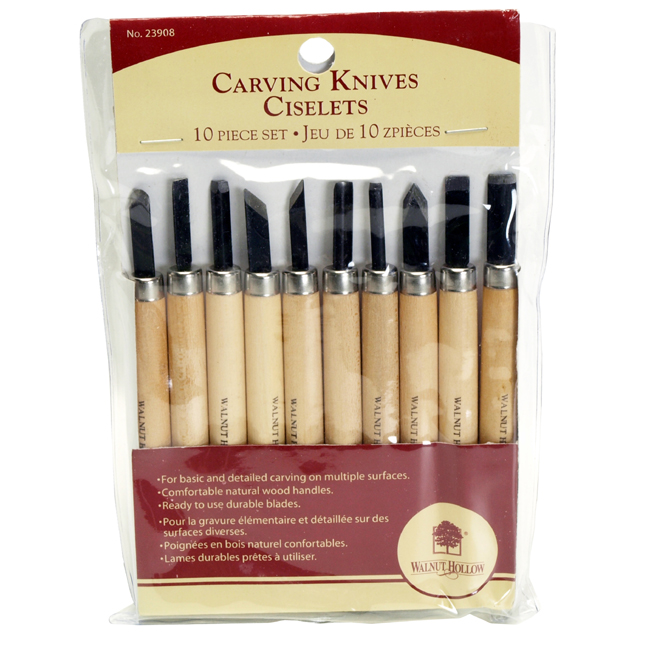 Walnut Hollow Carving Knife Set, 10pc
