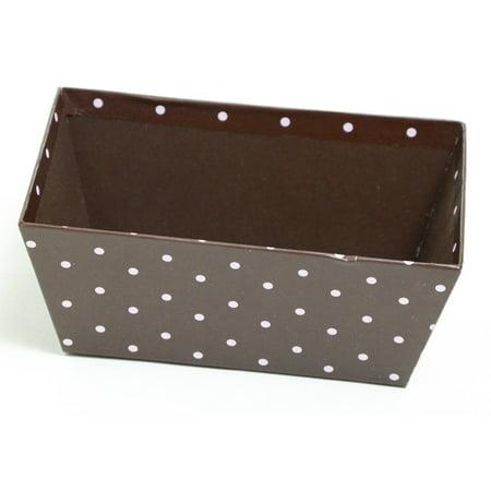 Brown and Pink Polka Dot Gift Basket - Polka Dot Basket