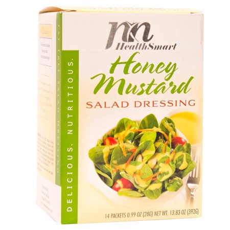 HealthSmart - Weight Loss Diet Salad Dressing - Honey Mustard - Low Calorie - Low Carb - Cholesterol Free - Fat Free - Gluten Free -
