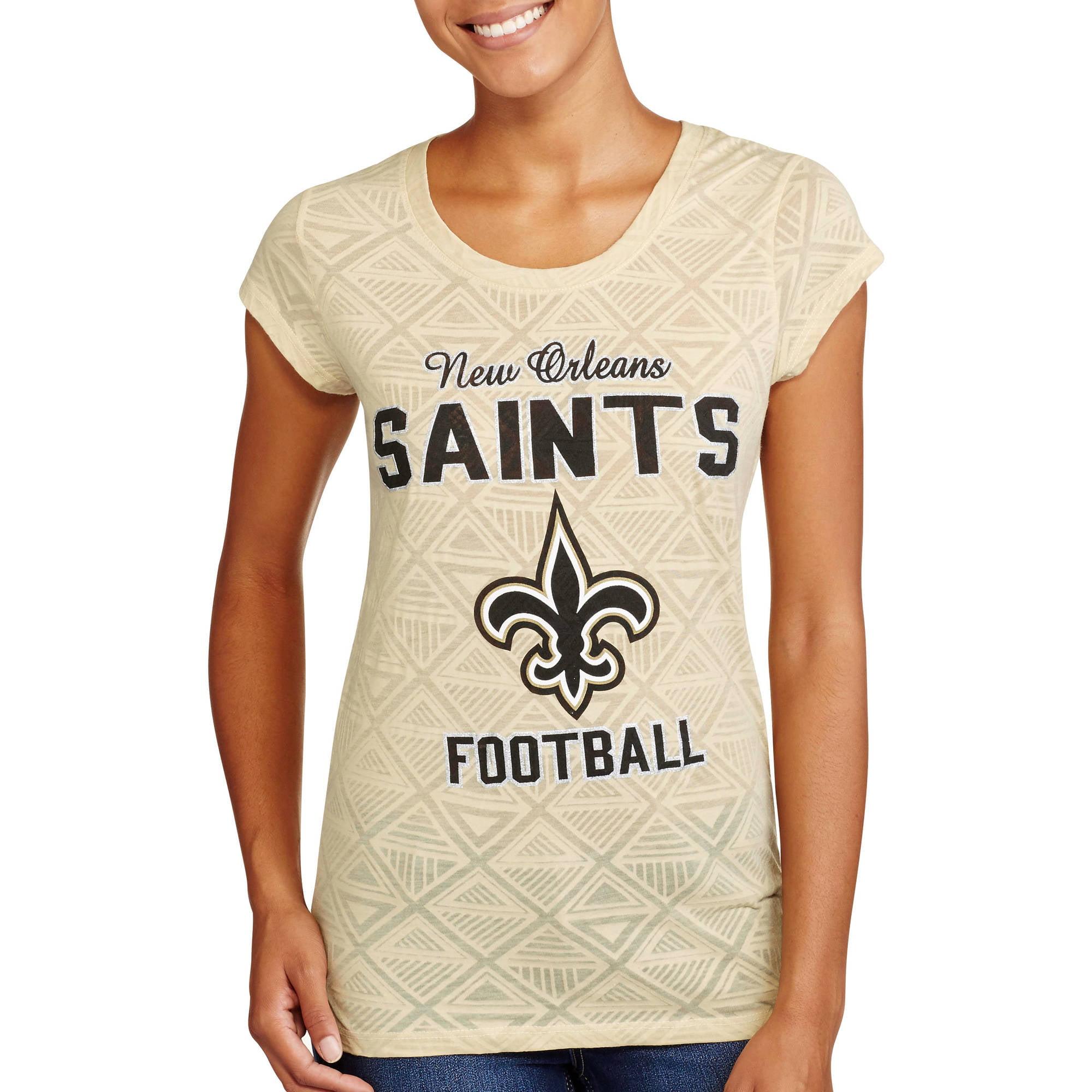 NFL Juniors Saints Short Sleeve Burnout Tee