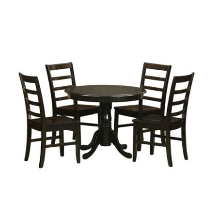5-Piece Kitchen Table Set and 4 Kitchen Chairs Wood seat