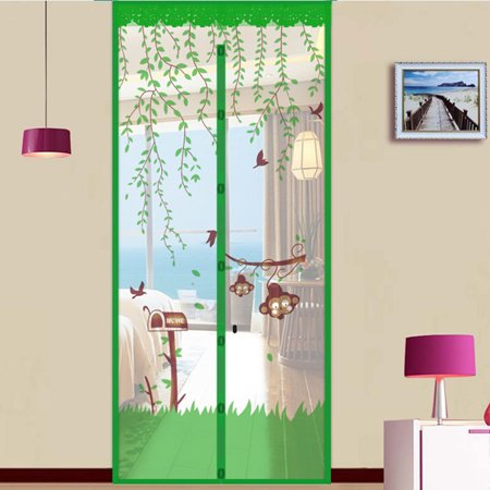 Meigar Mesh Door Curtain Magnetic Insect Snap Fly Bug Anti Mosquito Screen Protector 5Colors 90x210cm/35.4x82.7