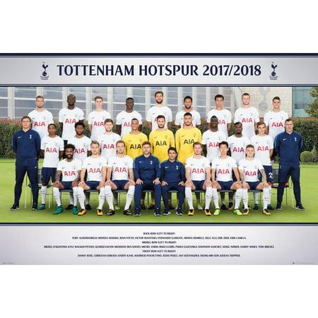 Tottenham Hotspur - Soccer Poster / Print (Team Photo - Season 2017 / 2018) (Size: 36