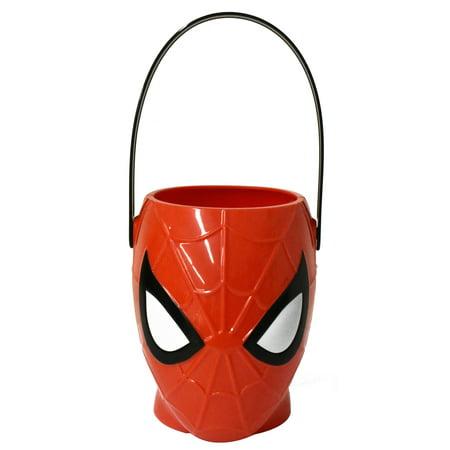 Halloween Spiderman Figural Plastic Pail