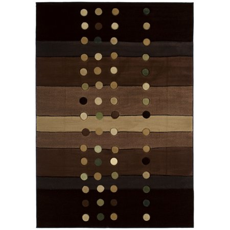 United Weavers Charlize Elvina Modern Chocolate Woven Polypropylene Area Rug or Runner -