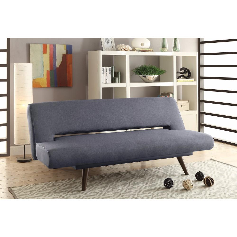 Mid Century Modern Adjustable Sofa Bed, Gray