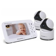 Babysense HD Video Baby Monitor, 2 Cameras, 5 inch LCD, Non-WiFi, Pan, Tilt, & Zoom, Wide Range, Two-way-Talk, Night Vision, V65