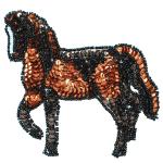 - Expo Int'l Prancing Horse Sequin Applique