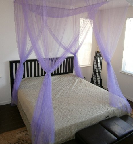 4 Poster Bed Canopy Netting Functional Mosquito Net Full Queen King