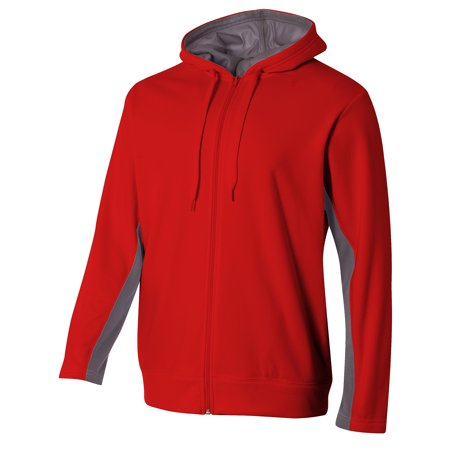 A4 Adult Tech Fleece Full Zip Hooded Sweatshirt - N4251