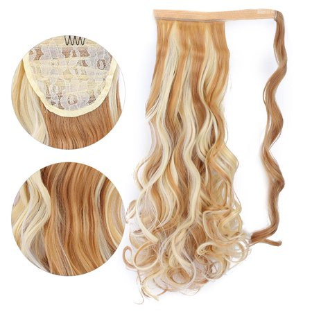 Herwey Long Curly Hair Extension Wig Piece Traceless Invisible Synthetic Ponytail Hair Piece - image 1 of 8
