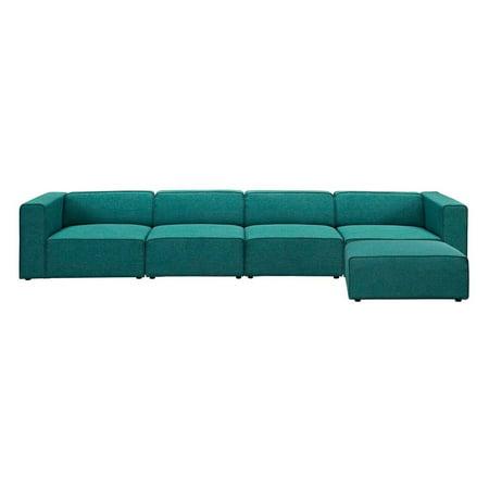 Astounding Modway Mingle 5 Piece Sectional Sofa With Ottoman Inzonedesignstudio Interior Chair Design Inzonedesignstudiocom