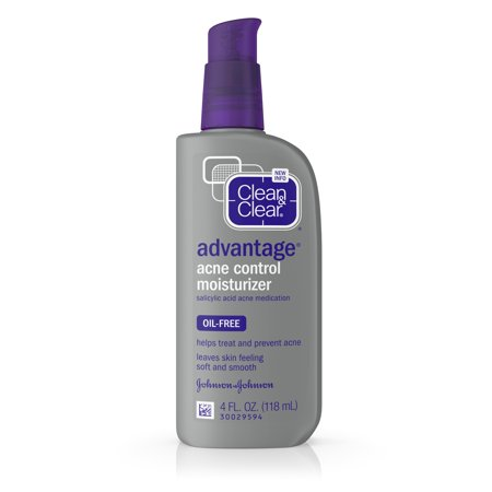 Clean & Clear Advantage Acne Control Oil-Free Face Moisturizer, 4 fl. (Best Treatment For Spots On Back)