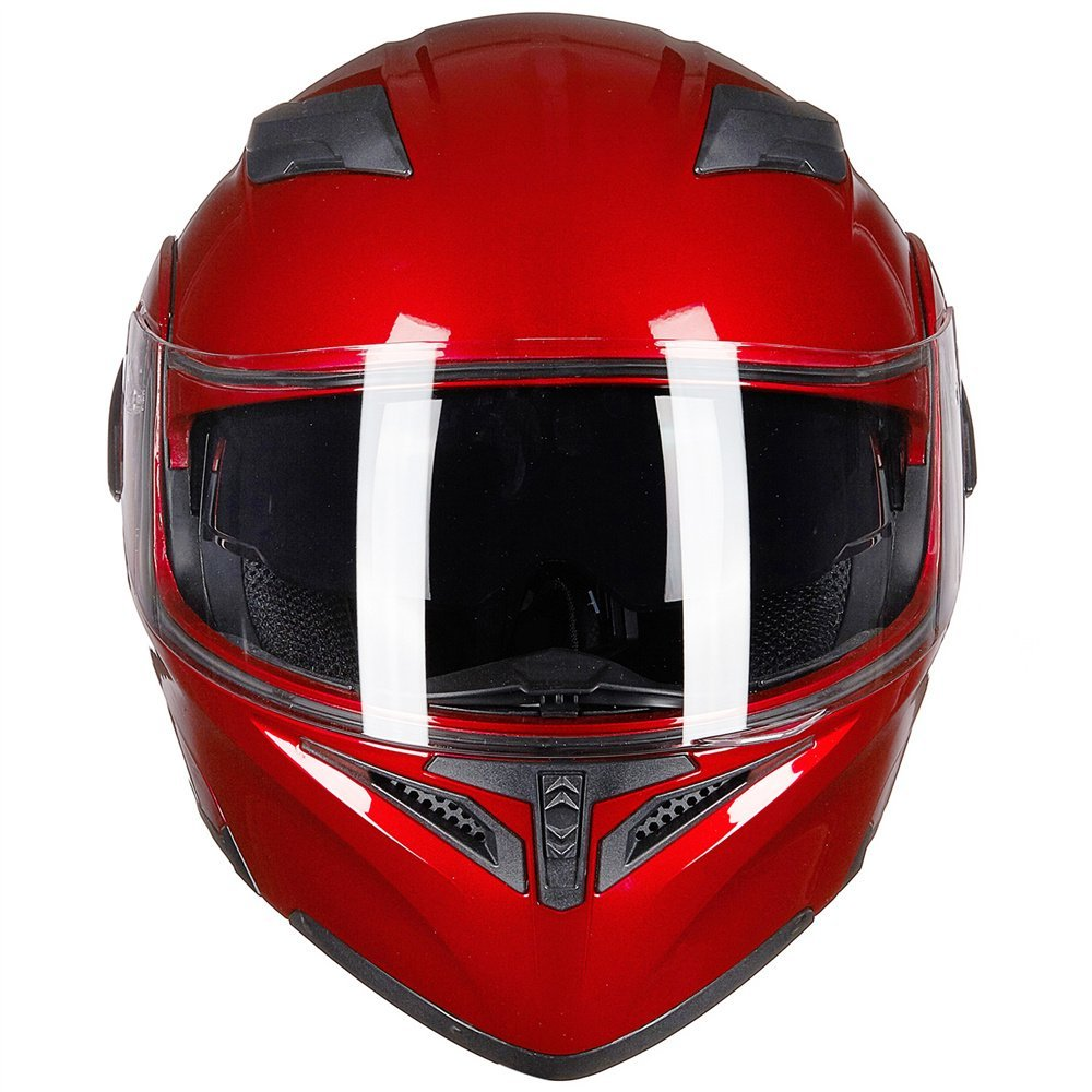 DOT Approved ILM Motorcycle Modular Flip-up Helmet Dual Visors Full Face Helmet with 6 colors& 4 sizes Available