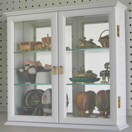 Small Wall Mounted Curio Cabinet Display Case With Gl Door White