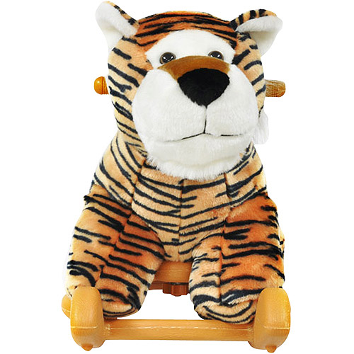 Radio Road Toys Voice Recording Rocker, Tiger