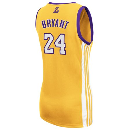 Kobe Bryant Los Angeles Lakers Adidas Womens Player Jersey  Gold