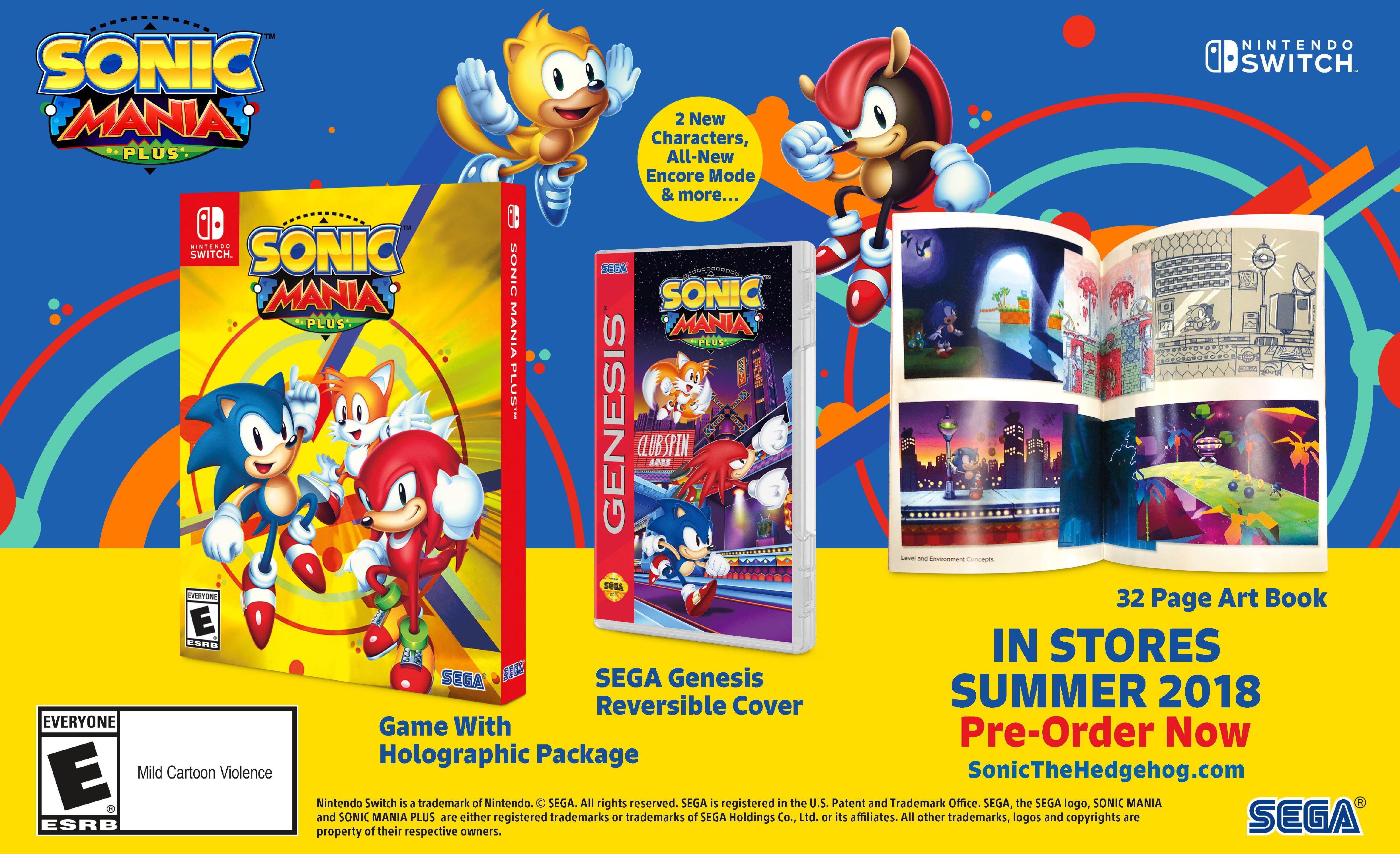 Sonic Mania Plus, Sega, Nintendo Switch, 010086770797