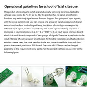 Newly Upgraded Version 4-Way Relay Audio Input Signal Selector Switching RCA Audio Input Selection Board of Rotary Switch for Amplifiers Green - image 5 of 6