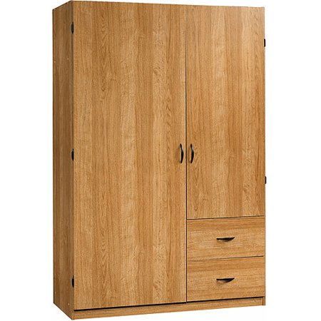 Sauder Beginnings Wardrobe Storage Cabinet Highland Oak