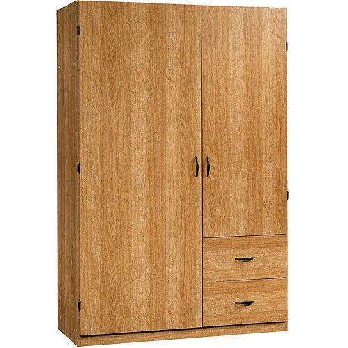 Sauder Beginnings Wardrobe Storage Cabinet Highland Oak