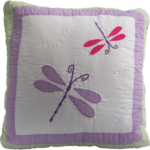 My World Dragonfly Butterfly Cotton Throw Pillow
