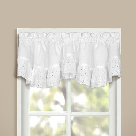 United Curtain Vienna Lace Double Crescent Valance 60 By