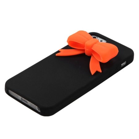 Insten Black Bow Skin Case Cover For iPhone SE 5S 5 - image 1 of 3