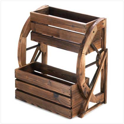 Home Locomotion Wagon Wheel Double-tier Planter