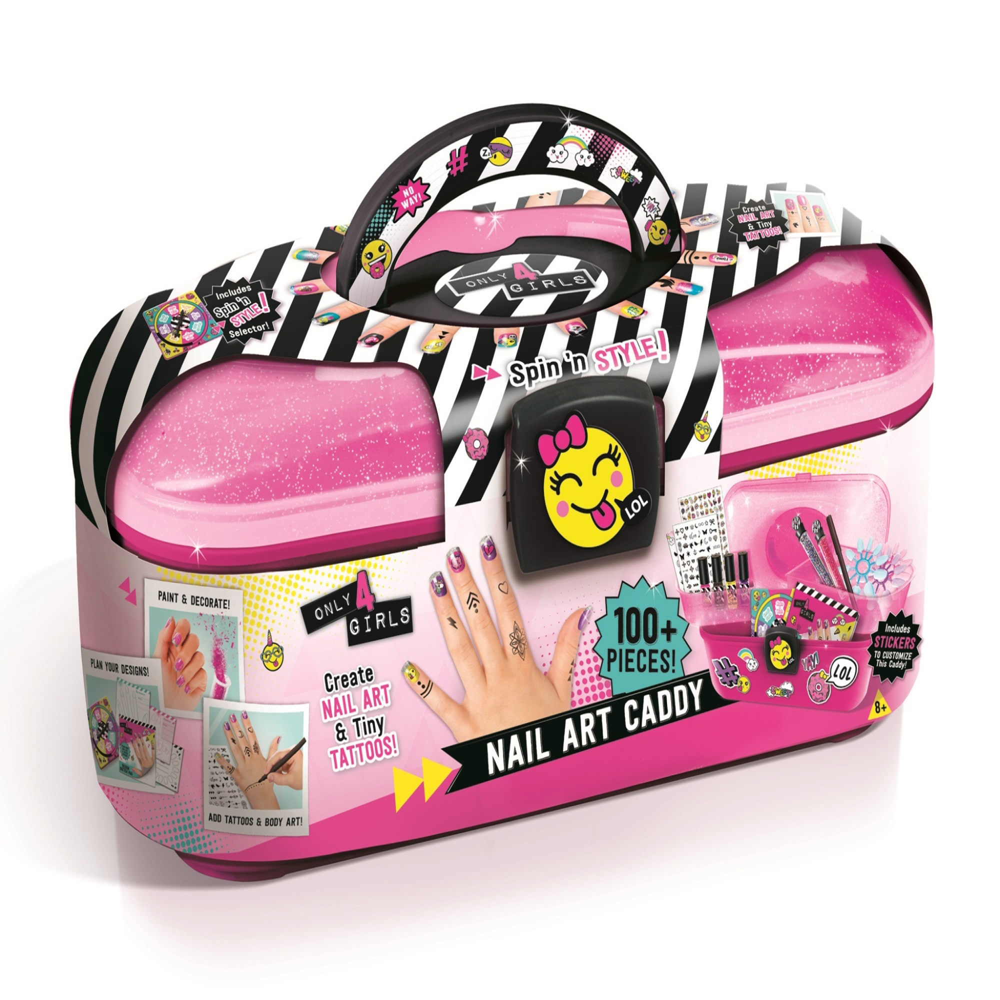 Only 4 Girls Nail Art Caddy Set by License2Play