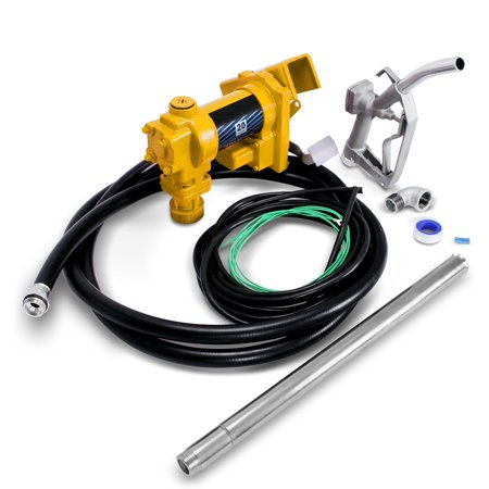 12v Fuel Transfer Pump - ARKSEN 12V DC High Flow 20 GPM Fuel Transfer Pump for Gasoline, Diesel Fuel, Kerosene, Heptane and Similar Fuels or Oils