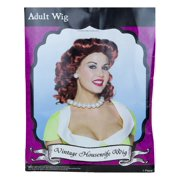Rasta Imposta Women's Red Vintage Housewife Wig Costumes - One Size