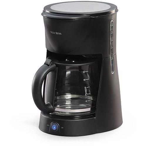 West Bend 12-Cup Coffeemaker, Black