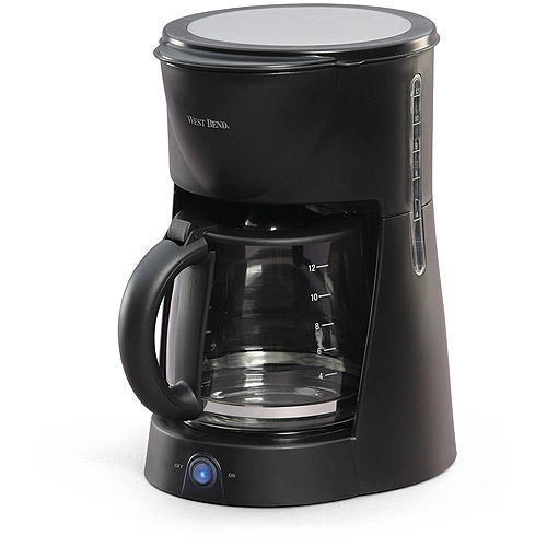 West Bend 12-Cup Coffeemaker, Black