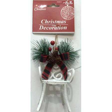 Ornaments In Bulk (New 377729  Hx Ornament Chair 4.7X2.8X2.4 White (24-Pack) Christmas Cheap Wholesale Discount Bulk Seasonal Christmas Candle Holder)
