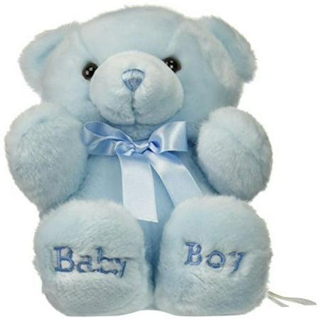Aurora Plush Baby 10 inches Comfy Blue Baby Boy Bear