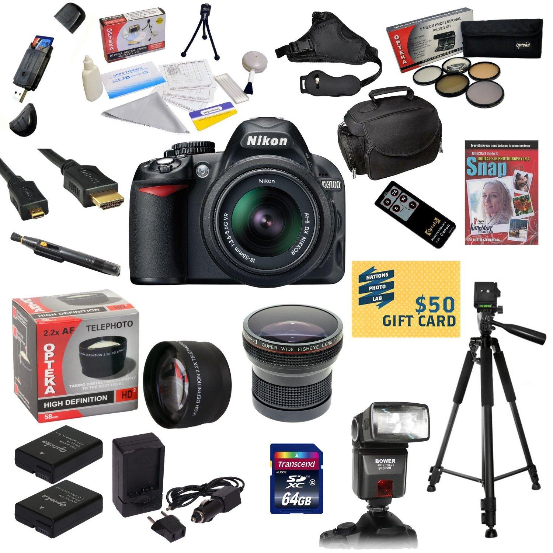 Nikon D3100 Digital SLR Camera with 18-55mm NIKKOR VR Len...