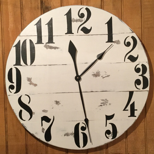 essex crafted wood products oversized 28 rayleigh painted wood wall clock walmart