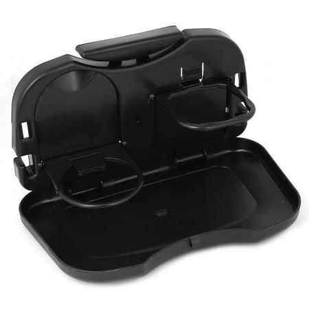 Auto Voiture Noir Siège Noir Plastique Support de Boisson Plateau de Verre Table Aliment - image 3 de 3