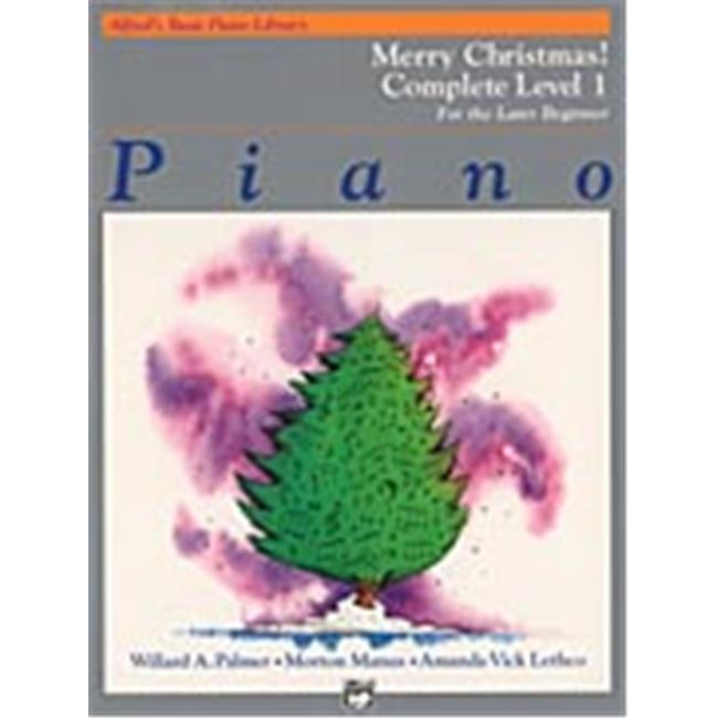 Alfred 00-3077 Basic Piano Course- Merry Christmas Complete Book 1- 1A-1B - Music Book